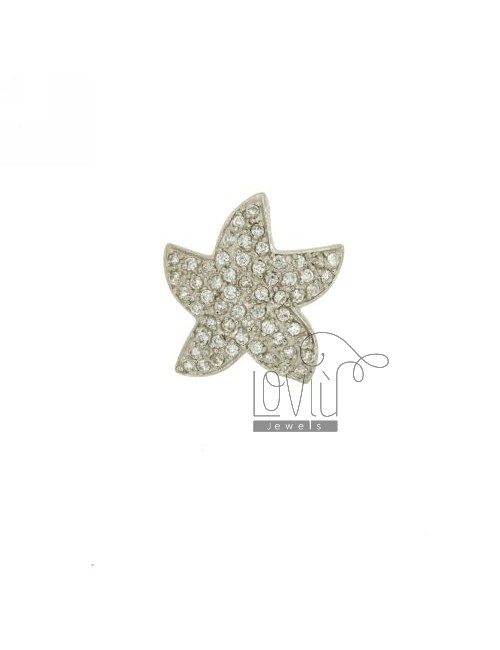 Pendant STARFISH 19x18 MM THROUGH IN AG TIT 925 ‰ AND ZIRCONIA