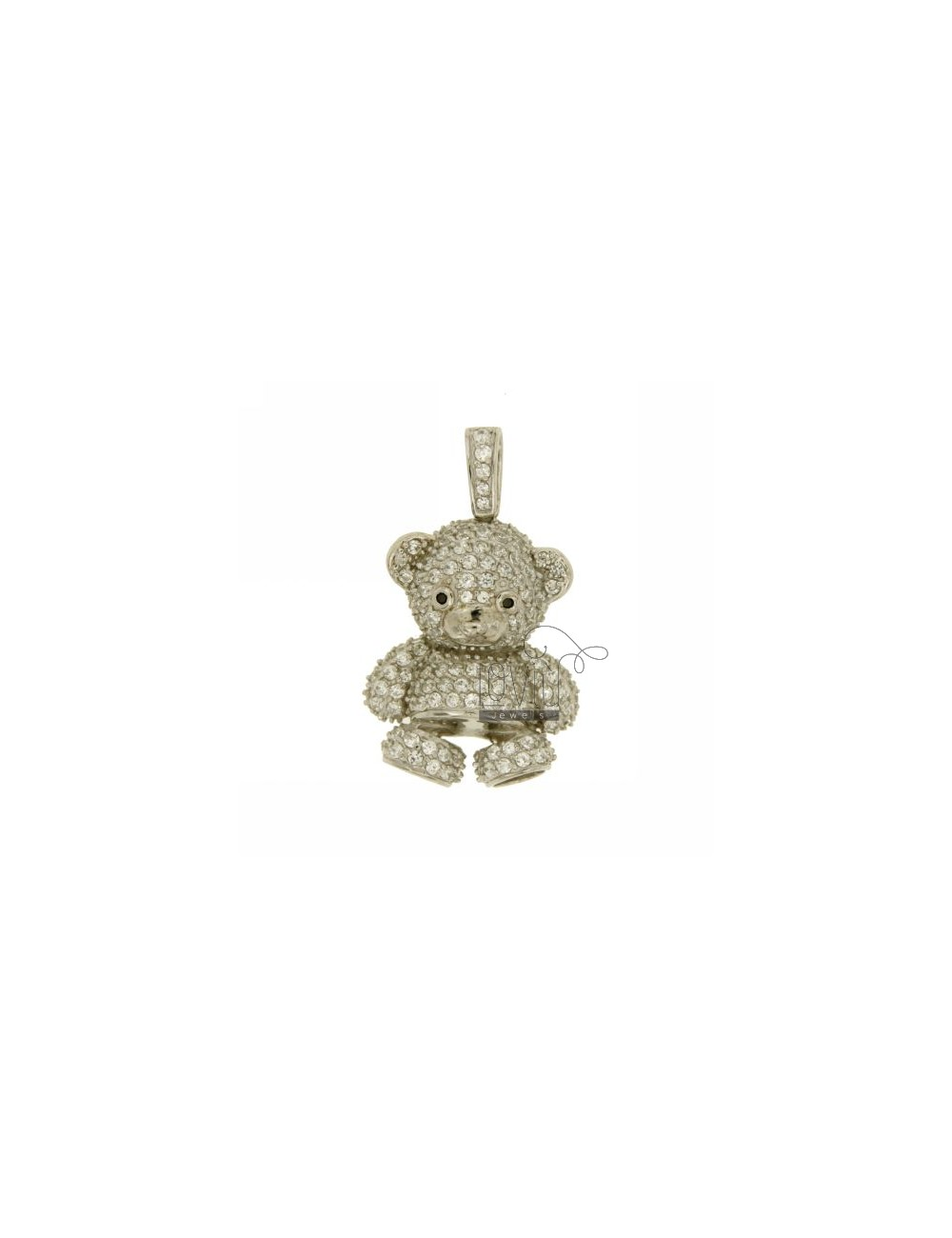 BEAR PENDANT 29x22 MM IN AG TIT 925 ‰ AND ZIRCONIA