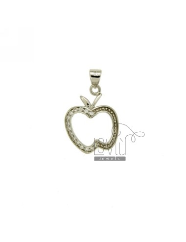 Pendant APPLE 18x14 MM IN AG TIT 925 ‰ AND ZIRCONIA