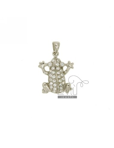PENDANT FROG 18x16 MM IN AG...