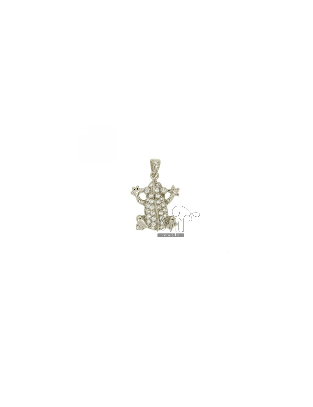 PENDANT FROG 18x16 MM IN AG TIT 925 ‰ AND ZIRCONIA