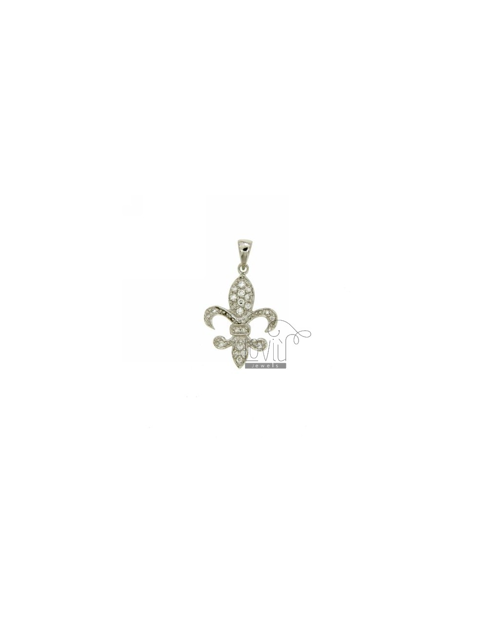 PENDANT LILY FLORENCE 22X0 MM IN AG TIT 925% ‰ E ZIRCONS