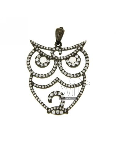 Owl pendiente 32x28 mm en...
