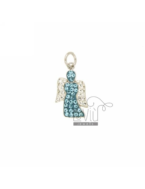 ANGEL PENDANT 20x11 MM IN AG TIT 925 ‰ AND STRASS