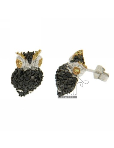 OWL EARRINGS WITH PAVE 'OF...