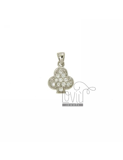 PENDANT SYMBOL FLOWERS 13x10 MM IN AG TIT 925 ‰ AND ZIRCONIA