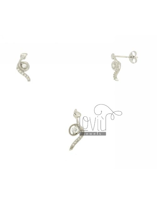 Earrings and Pendant SIGN IN SILVER TIT 925 ‰ AND ZIRCONIA