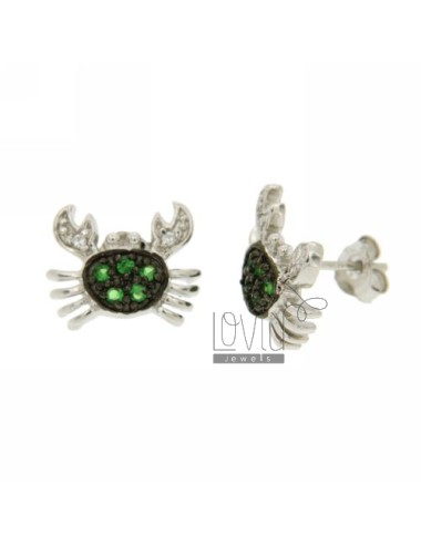 LOBE CRAB EARRINGS WITH...