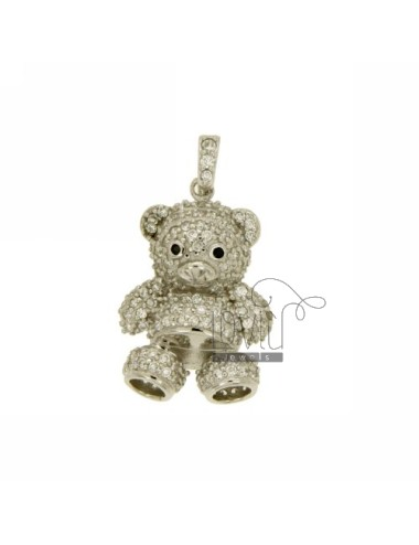 BEAR PENDANT 26X18 MM IN AG TIT 925 ‰ AND ZIRCONIA