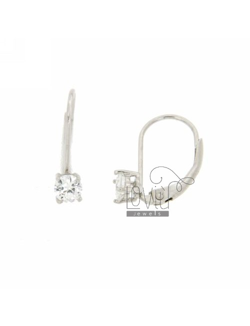 EARRINGS WITH LIGHT POINT A nun ZIRCONE 5 MM IN RHODIUM AG TIT 925 ‰
