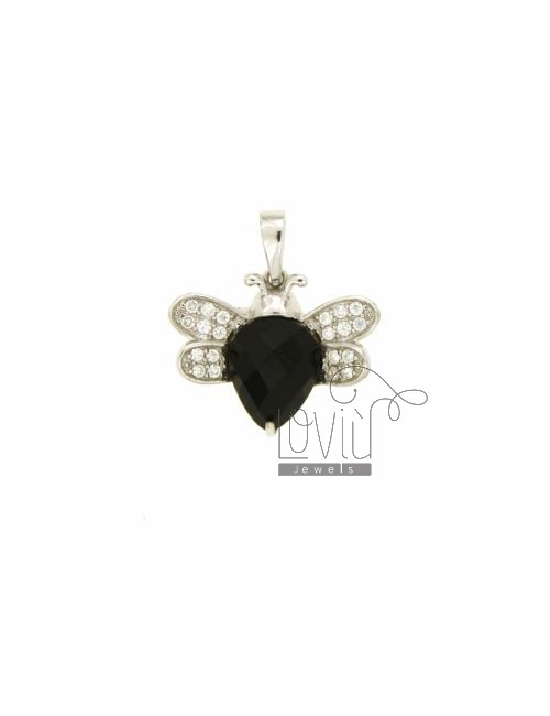 BUTTERFLY PENDANT 15X17 MM IN AG TIT 925 ‰ AND ZIRCONIA