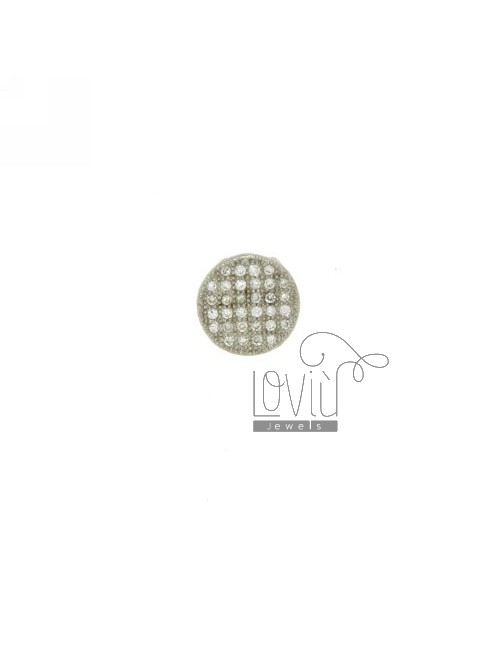 CHARM ROUND MM THROUGH 10 IN AG TIT 925 ‰ AND ZIRCONIA