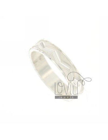 DIAMOND RING BAND WITH PLOT IN SILVER WAVE TIT.925