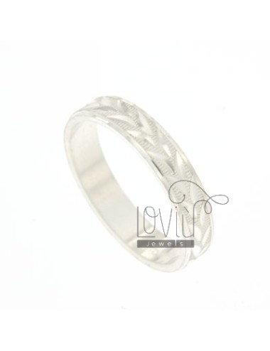 BAND DIAMOND RING IN SILVER...