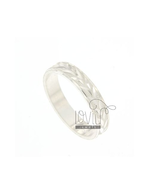 BAND DIAMOND RING IN SILVER WITH PLOT COMMA TIT.925