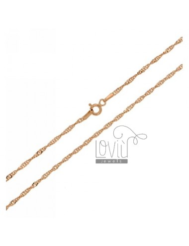 SINGAPORE CHAIN &8203&8203ROSE GOLD PLATED 40 CM IN TIT AG 925