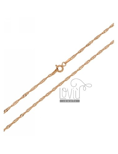 SINGAPORE CHAIN &8203&8203ROSE GOLD PLATED 45 CM IN TIT AG 925
