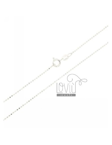 Faceted ball chain mm 1,2...
