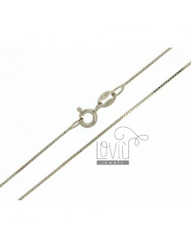 CATENA VENEZIANA MM 0,6 CM 60 IN AG RODIATO TIT. 925‰