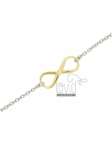INFINITE SMOOTH TWO.TONE BRACELET RHODIUM SILVER AND GOLD PLATED 925 ‰