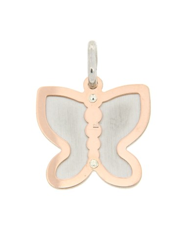 BUTTERFLY BUTTERFLY PENDANT WITH ROSE GOLD PLATED SILVER 925