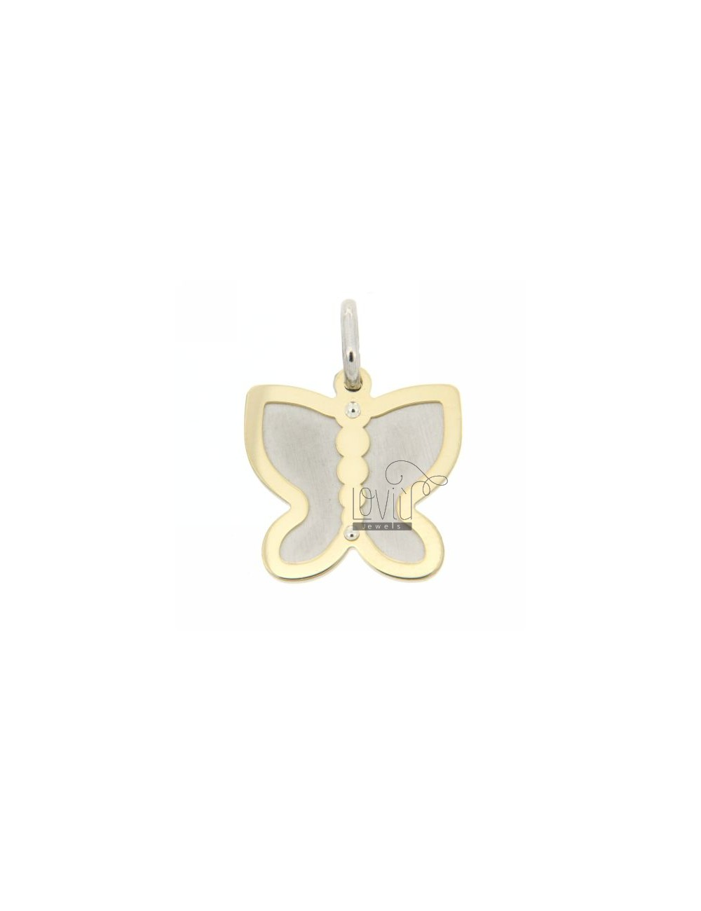 BUTTERFLY BUTTERFLY PENDANT WITH GOLD PLATED SILVER 925