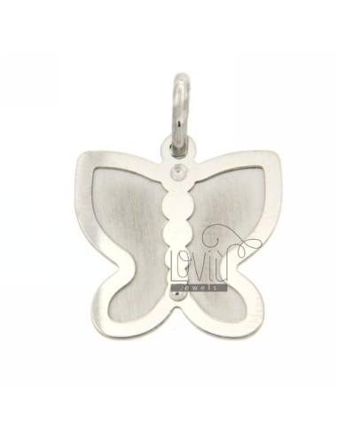 BUTTERFLY BUTTERFLY PENDANT SILVER 925 rhodium.plated