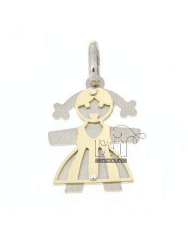 Girl with pendant plated...