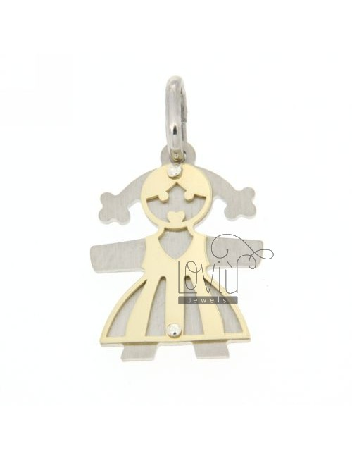 GIRL WITH PENDANT PLATED FINISHES IN GOLD SILVER 925