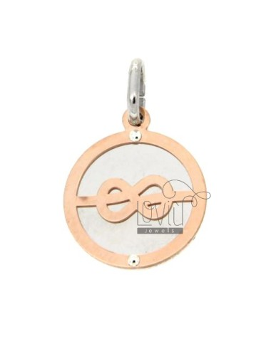 SAILOR KNOT GOLD PLATED PENDANT ROUND ROSE AG TIT 92.5 ‰