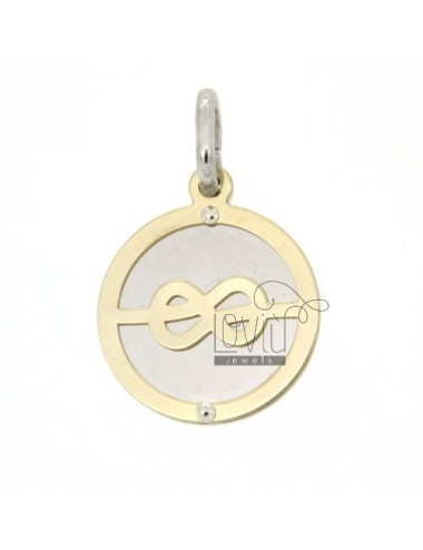 SAILOR KNOT ROUND PENDANT GOLD PLATED YELLOW AG TIT 92.5 ‰