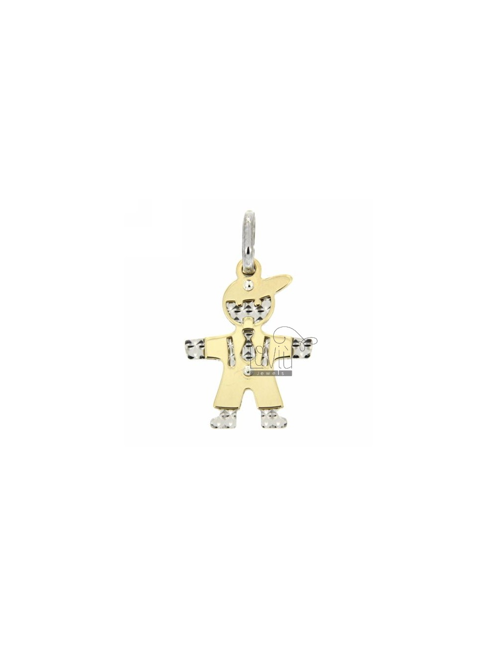 BIMB0 PENDANT GOLD PLATED AND FINISH DIAMOND SILVER 925
