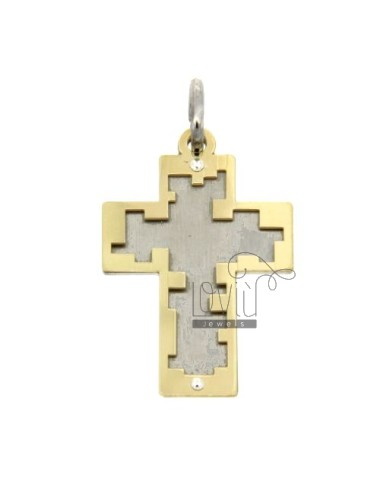 GOLD PLATED CROSS PENDANT SILVER 925