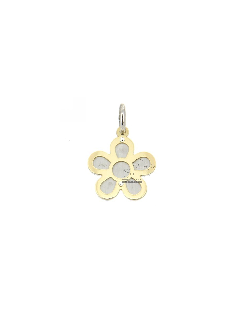 FLOWER PENDANT GOLD PLATED SILVER 925