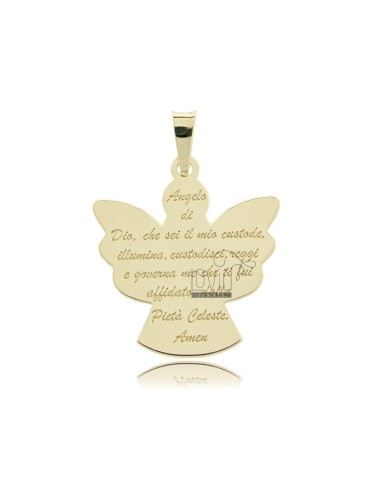 A PRAYER ANGEL PENDANT SLAB YELLOW GOLD PLATED IN TIT AG 92.5 ‰