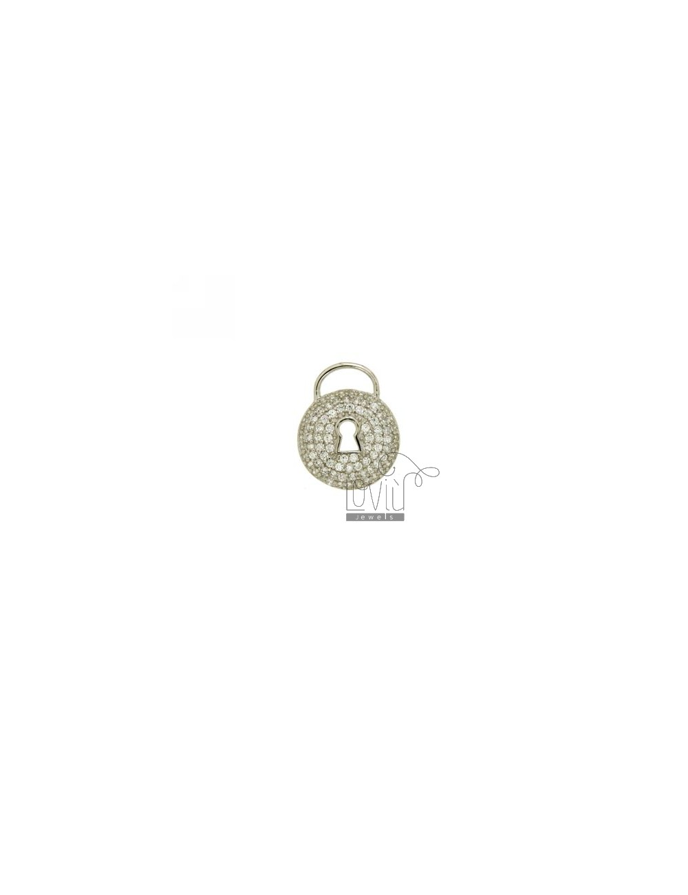 PENDANT CLASP ROUND MM 18X15 IN AG TIT 925 ‰ AND ZIRCONIA