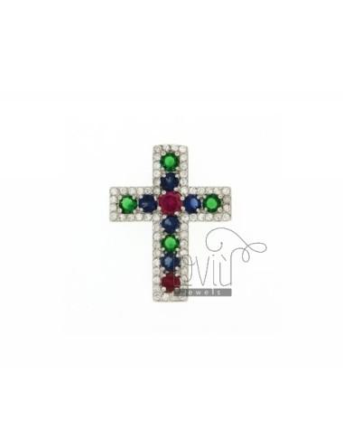 Anhänger Kreuz mit Zirkonia...