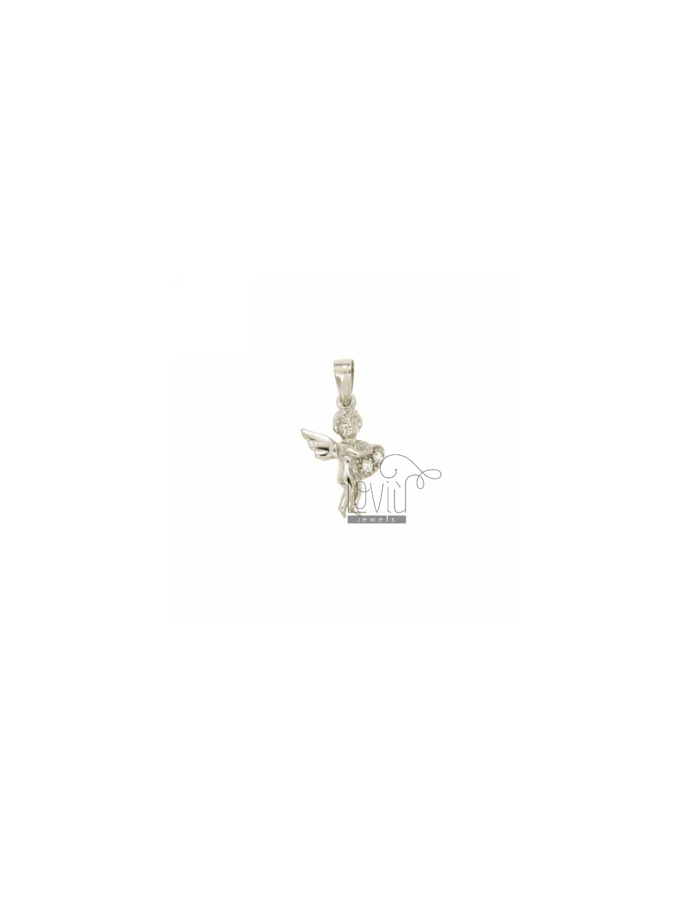 PENDANT CUPIDO 18x12 MM IN AG TIT 925 ‰ AND ZIRCONIA