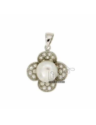 Blumen.Halskette mit Perle...