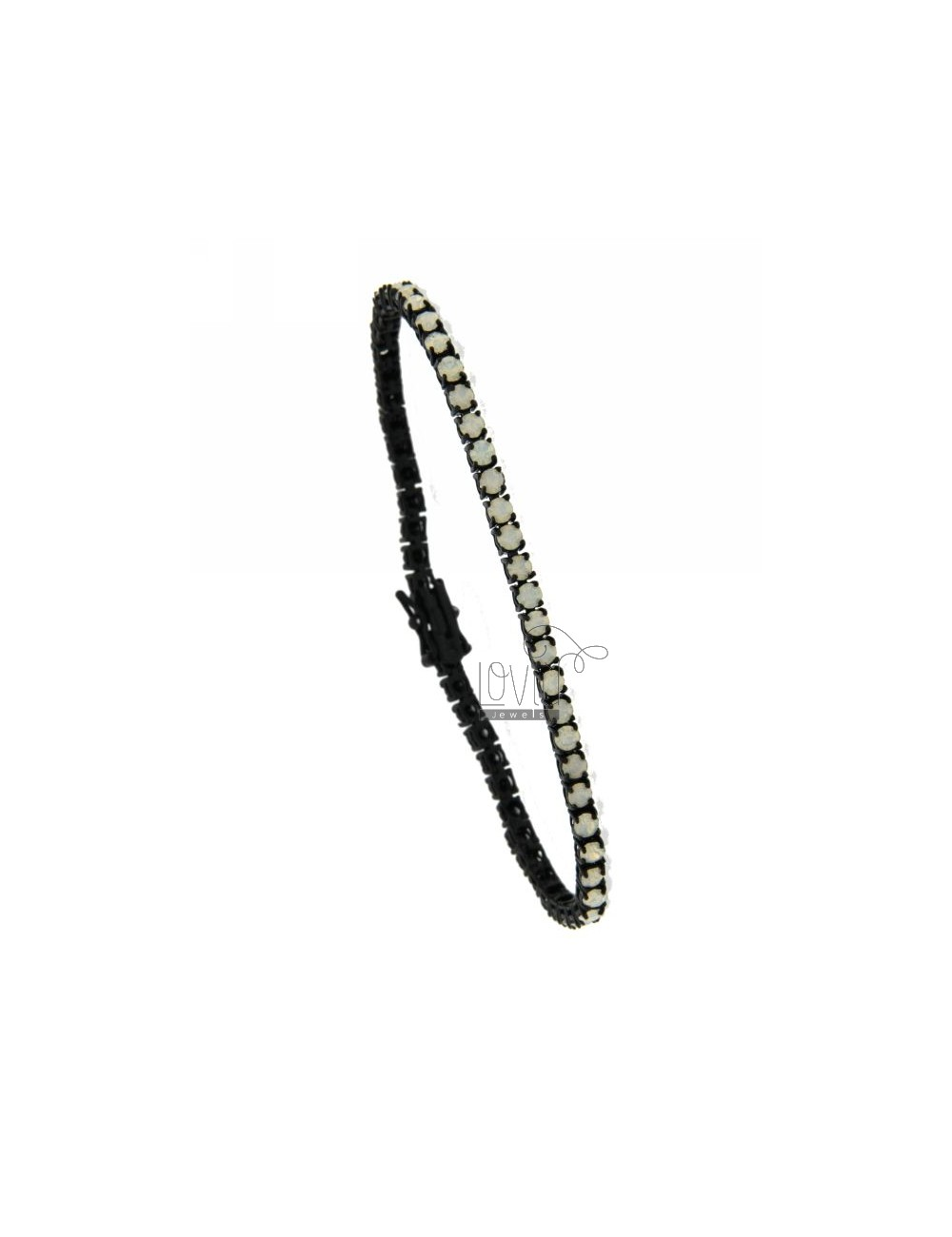 MM 3 RUTENIO PLATED TENNIS BRACELET IN TIT AG.925 AND ZIRCONIA WHITE NORTHERN LIGHTS