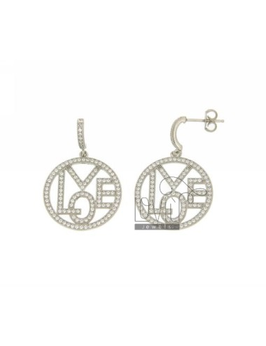 LOVE PENDANT EARRINGS WITH...