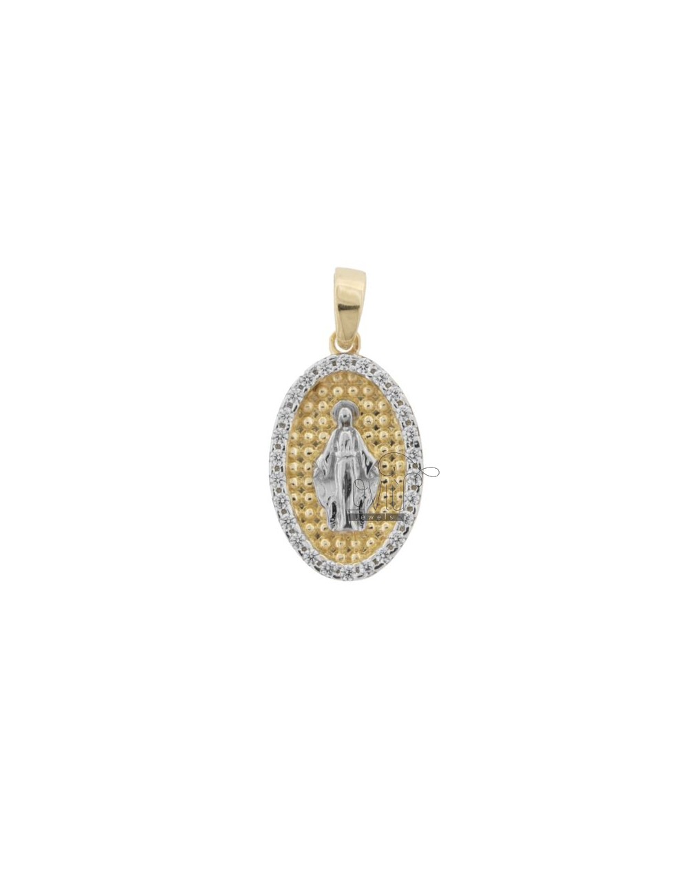 MIRACULOUS PENDANT RHODIUM-PLATED AND GOLD-PLATED INTERIOR WITH A TOUR OF ZIRCONIA IN SILVER 925 ‰