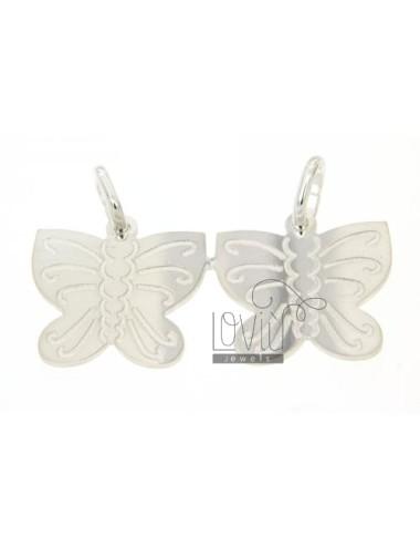 Schmetterlinge in Silber...