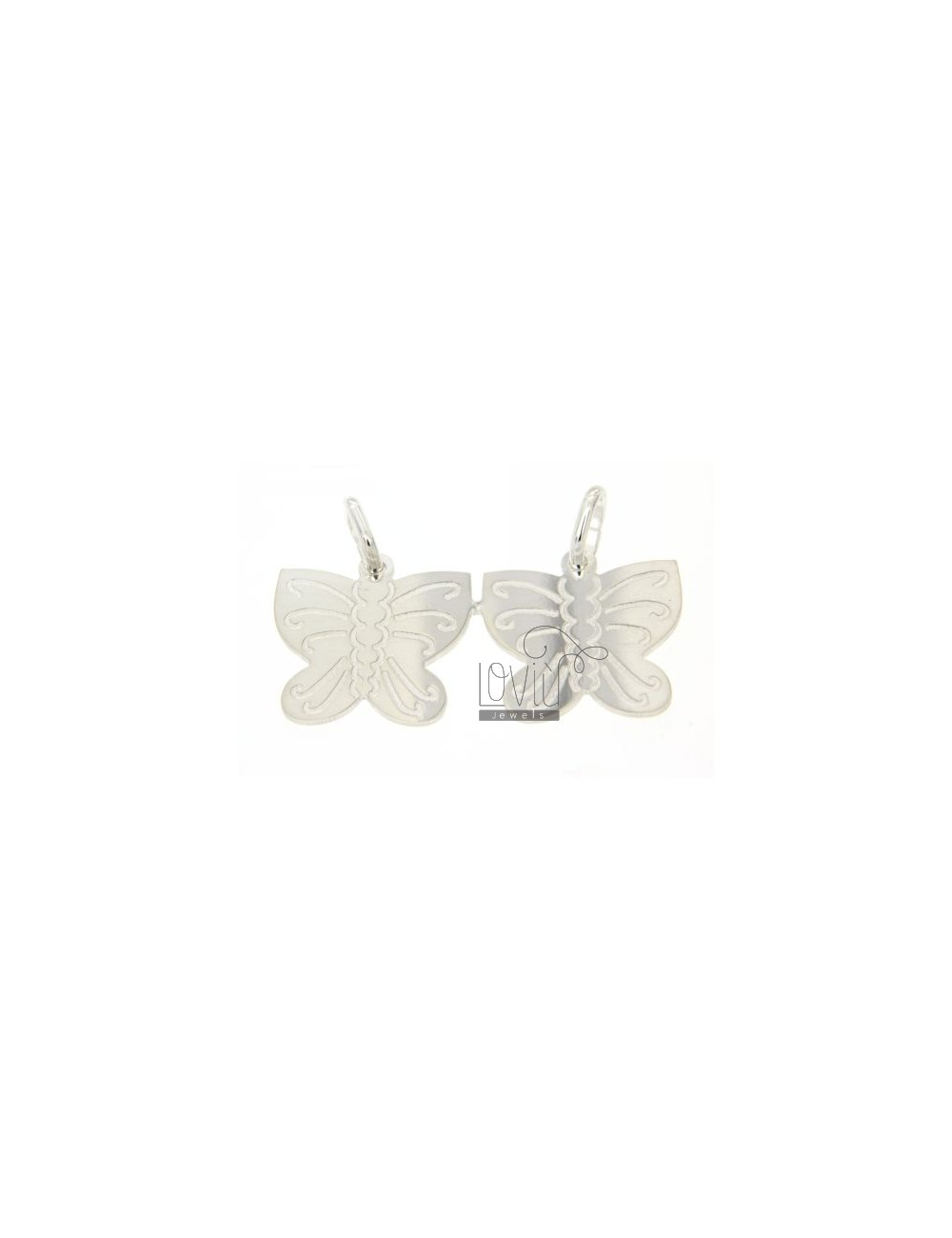 BUTTERFLIES IN SILVER CHARM DIVISIBLE 925 ‰
