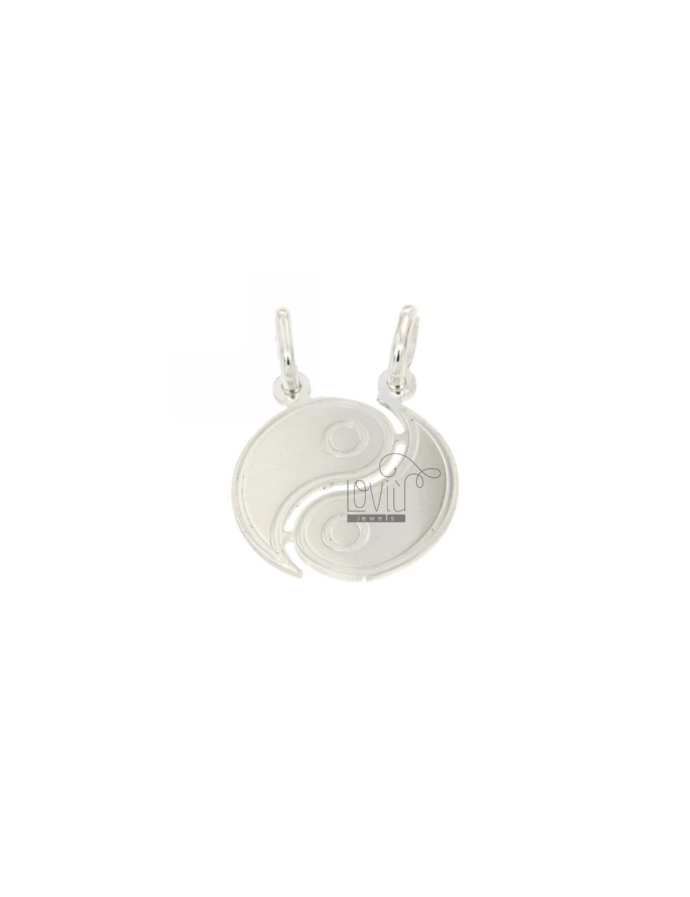 PENDANT GOOD AND EVIL DIVIDED IN SILVER 925 ‰