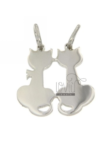 Pendant KITTENS DIVISIBLE SILVER RHODIUM 925 ‰
