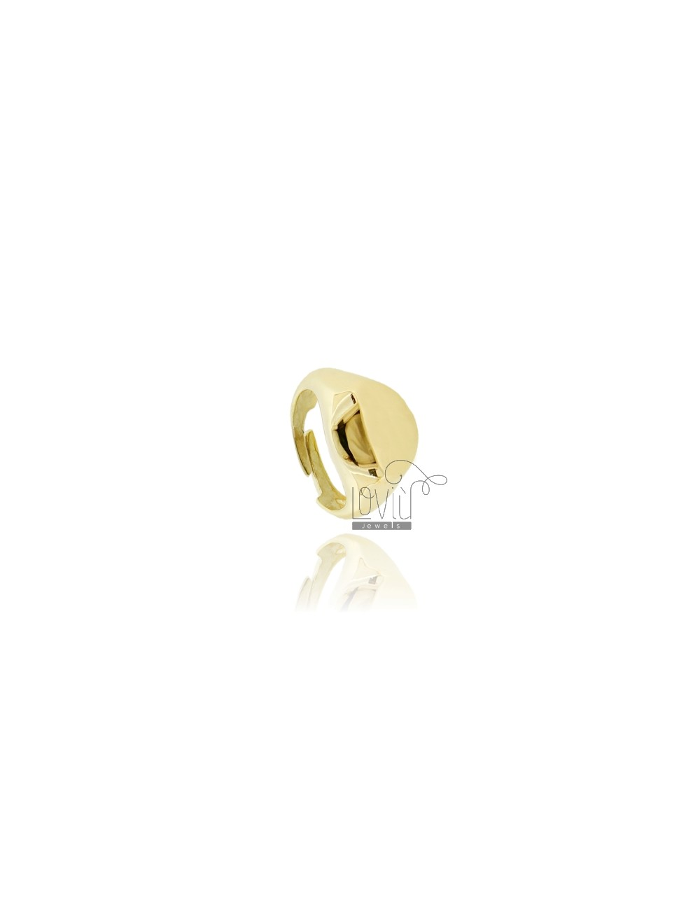 LITTLE FINGER RING ROUND GOLD PLATED SILVER 925 ‰