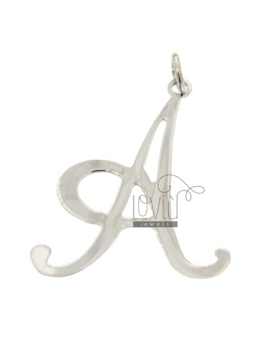 PENDANT LETTER A IN TITLE AG.925