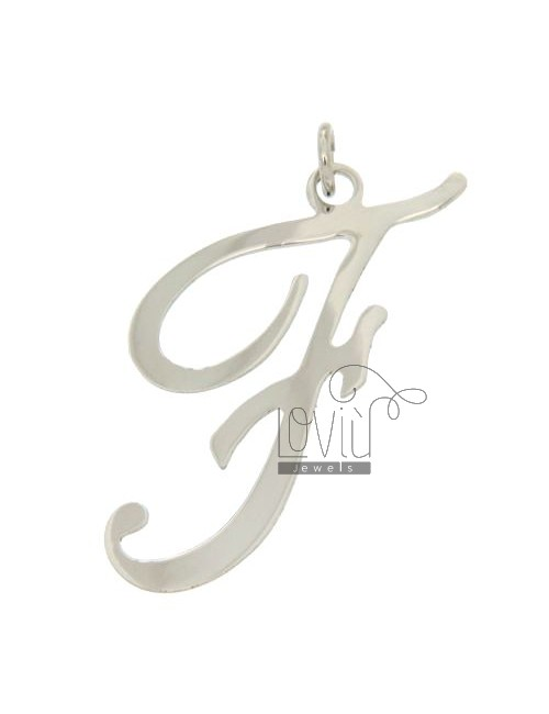LETTER F CHARM IN TIT AG 925