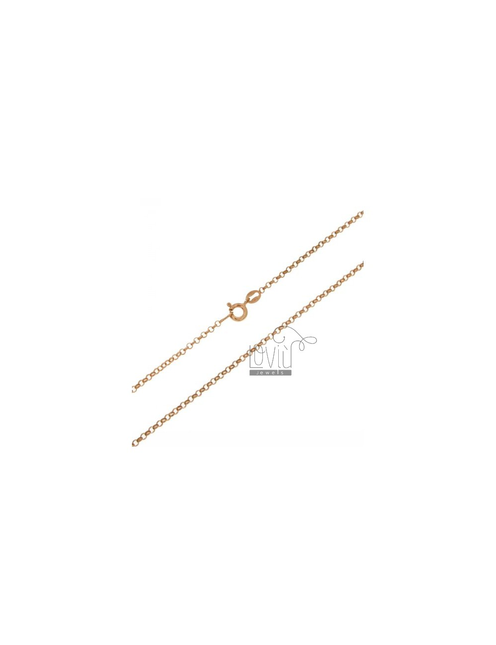 ROLO CHAIN 2 MM ROSE GOLD PLATED 40 CM IN AG TIT 925 ‰